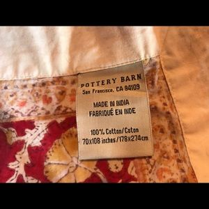 Pottery Barn Dining - Pottery Barn Paisley Cotton 70x108 Tablecloth